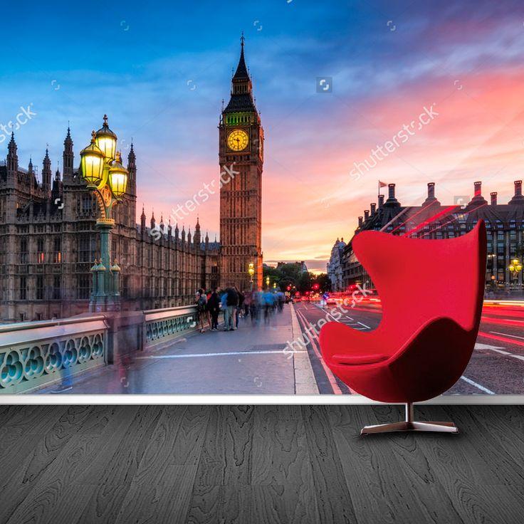 Fotobehang Big Ben Westminster Abbey | Maak het jezelf eenvoudig en bestel fotobehang voorzien van een lijmlaag bij YouPri om zo gemakkelijk jouw woonruimte een nieuwe stijl te geven. Voor het behangen heb je alleen water nodig!   #behang #fotobehang #print #opdruk #afbeelding #diy #behangen #bigben #westminsterabbey #londen #london #engeland #uk #grootbrittannie #brexit #stad #avond
