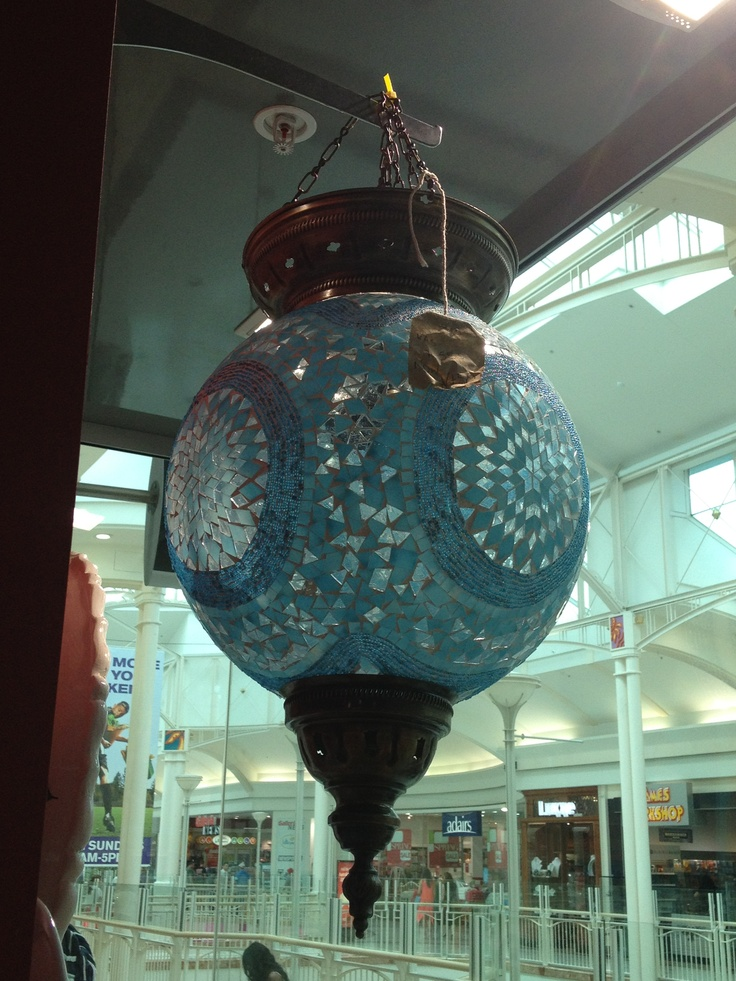 Beautiful handmade Turkish lantern I bought to hang low over our dining table :)