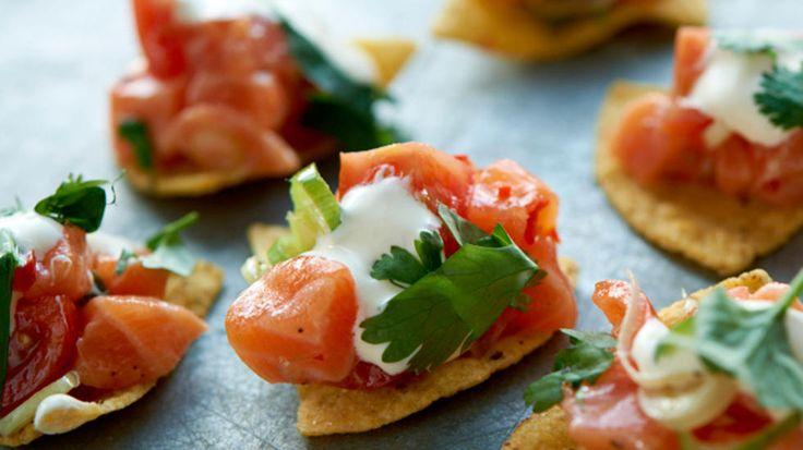 Kjempegod snacks, server som forrett eller som en del av et større tapasbord.