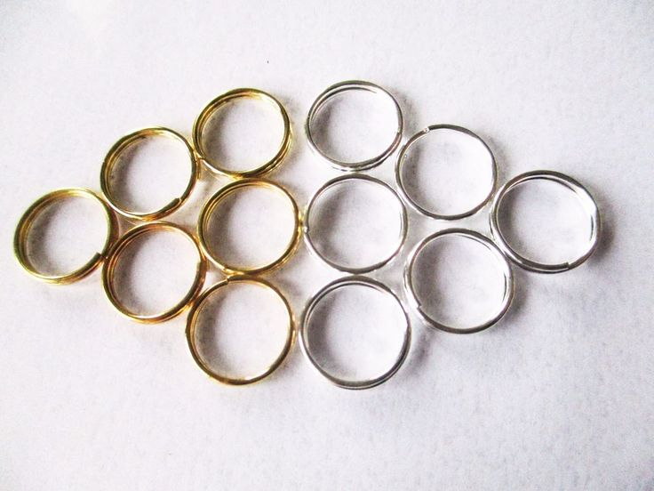Accessories Small Split Key Rings 10mm diameter for jewelry, dolls, hair braids #Jaszitupleatheraccents