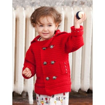 889 best crochet patterns for baby images on pinterest crochet pea wee coat fandeluxe Image collections