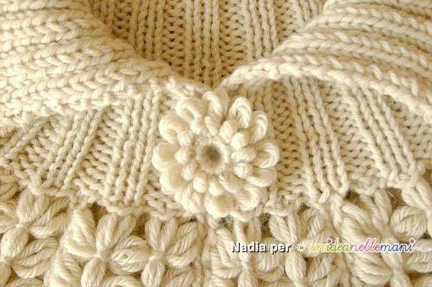 collo a maglia, coprispalle a maglia, coprispalle di lana, lavori al telaio,