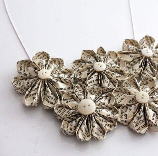 Laser cut paper necklace