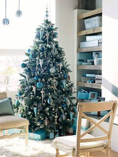 árbol navidad turquesa