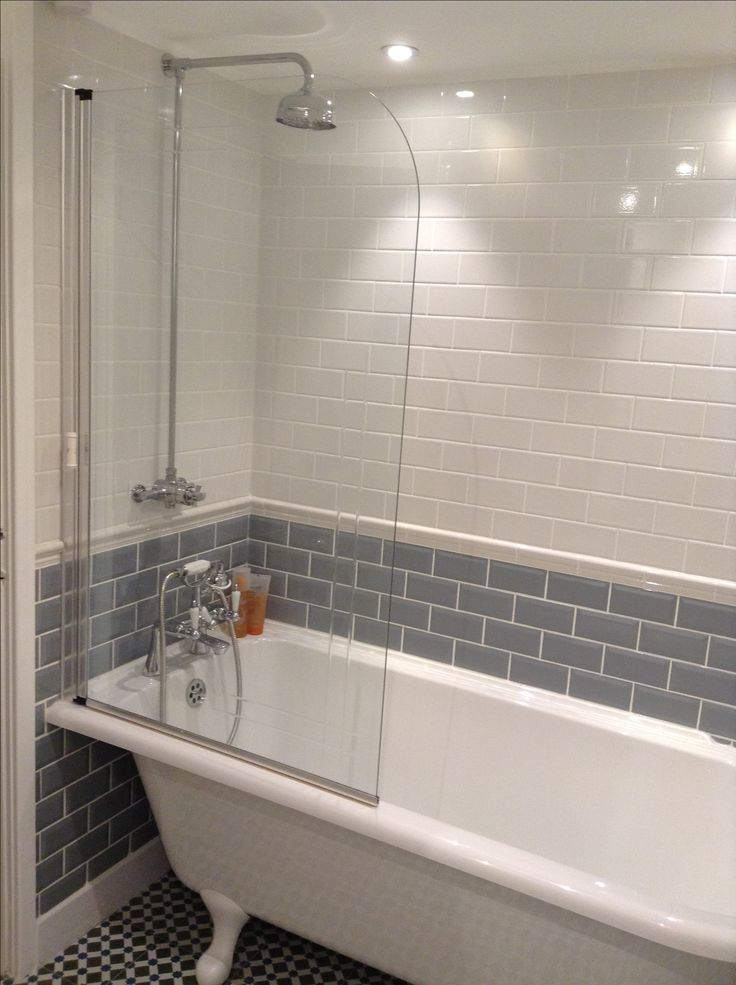 Photographic Gallery Grey ua White Tiles Victorian Freestanding Bath Burlington Hampton Bathroom