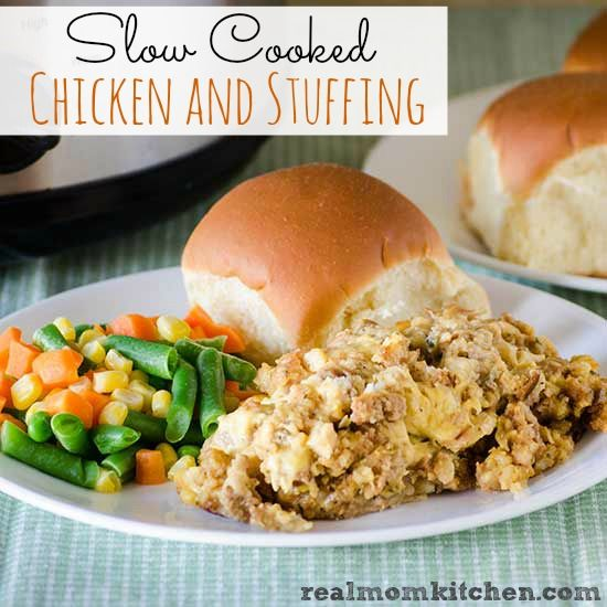 summer jackets for men Slow Cooked Chicken and Stuffing   Real Mom Kitchen