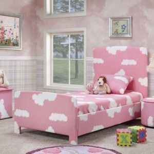 Lovely Pink And White Bedroom Furniture Set For Toddler Girl Consists Of  Bedside Round Table And Part 39