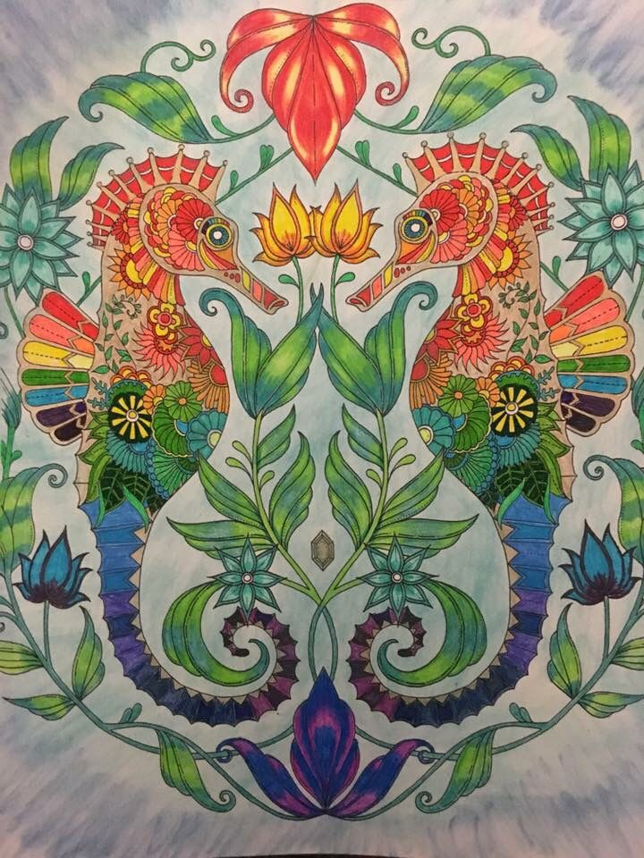 76 best Lost Ocean Coloring Book Completed Pages Inspiration images ...