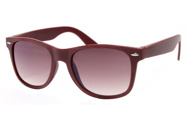 Dark Red Wooden Sunglasses