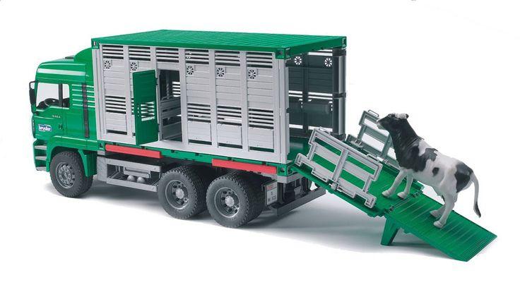 Bruder MAN Cattle Transportation Truck With Cow 02749 by Bruder Toys  for $44.98 in Bruder Toys - Brands : Rural King