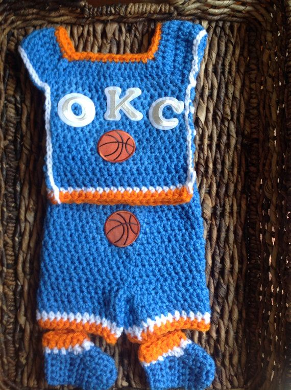 Crochet Ock Oklahoma City Thunder Theme Baby Basketball