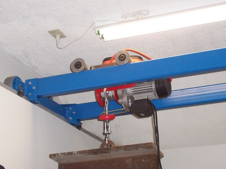 Homemade bridge crane wood shop pinterest homemade for Shop hoist plans