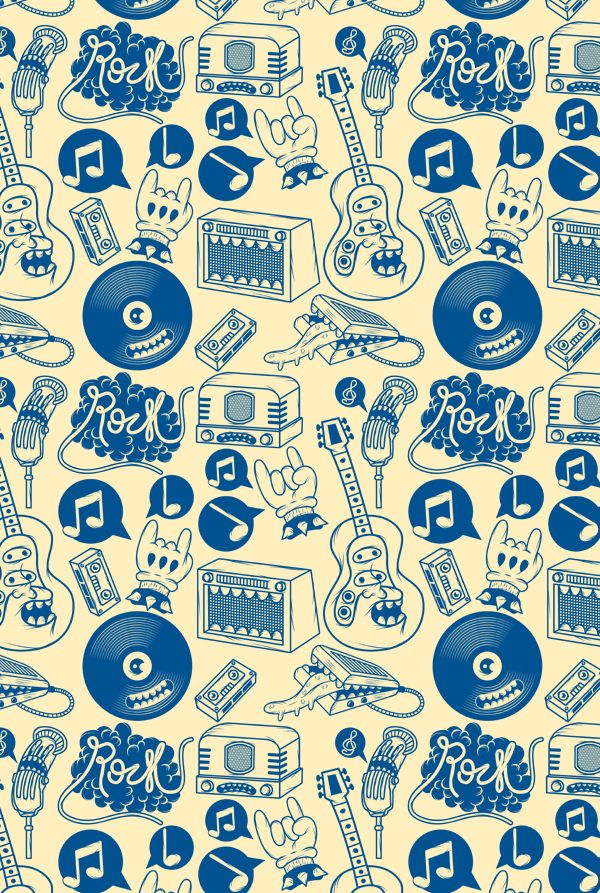Musical Monsters by Matheus Costa, via Behance