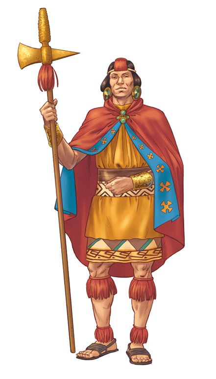 Illustration of an Inca for the spanish National Geographic Kids magazine.