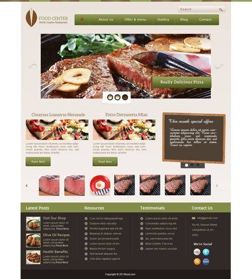 Food Template Available at buycmstemplate.com