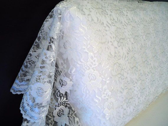 FULL LACE Pillowcase Sham Daytime Cover WHITE Organza Lace