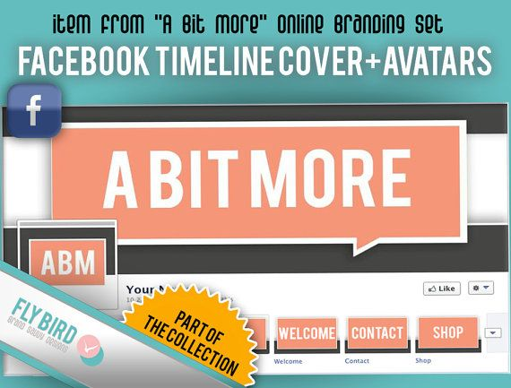 Facebook Timeline Cover and Profile Photo set A by FlyBirdBranding, €5.00