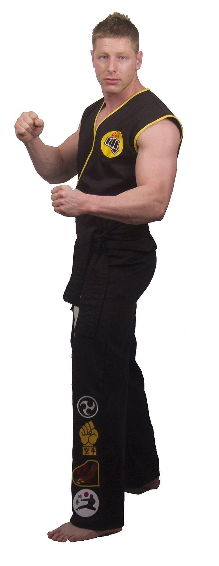 The Karate Kid DELUXE Cobra Kai Mens Replica Gi Costume