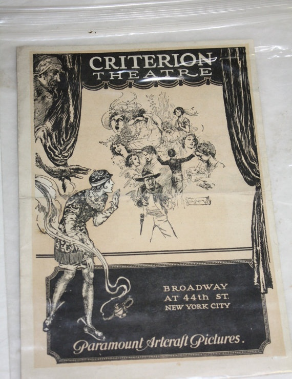Rare Criterion Theatre Broadway NYC Program by collectiblejewels, $20.00