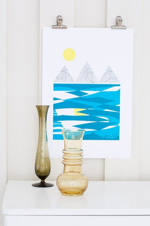 Mountain and sea 30x40 cm - Graphical posters - ART