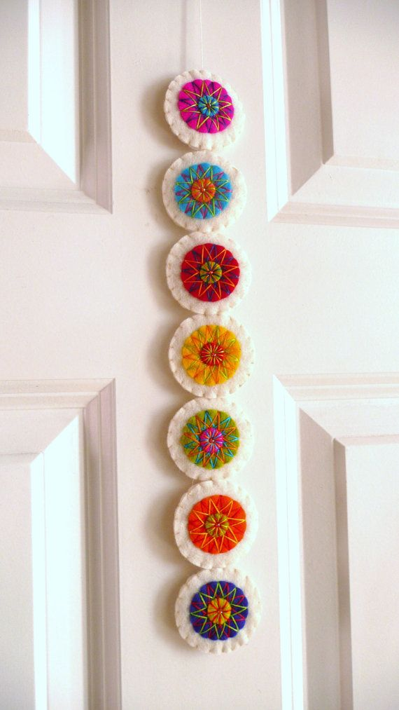 Colorful felt garland M by HetBovenhuis on Etsy,