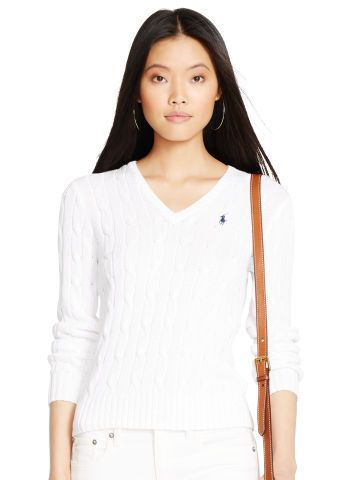 Polo Ralph Lauren Cable-Knit V-Neck Sweater - Polo Ralph Lauren V-Neck - Ralph Lauren France