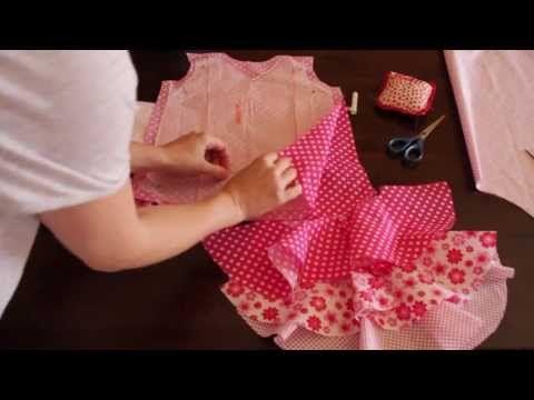 Tutorial costura- Vestido de flamenca estilo Marisol 1/5 - patrones - YouTube