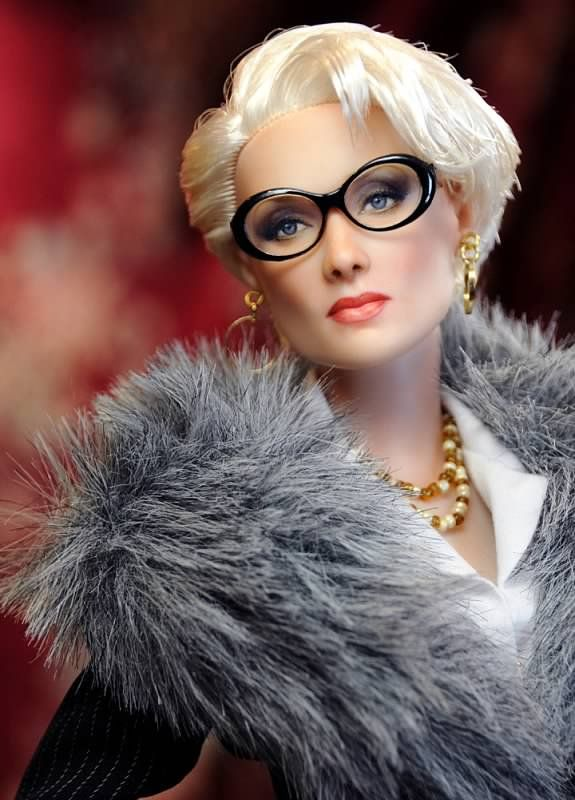 Meryl Streep in the Devil Wears Prada - realistic barbie doll