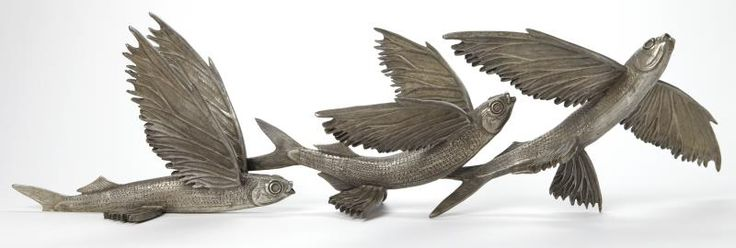 'BARBADOS' New Flying fish bronzes from Kirk McGuire Bronze Sculpture!