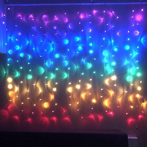 Fefelightup Rainbow Curtain Lights Fairy Icicle Fantasy Unicorn