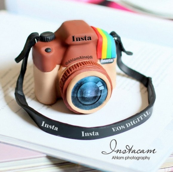 Instagram based polymer clay charm