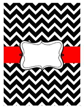 FREE CHEVRON BINDER BLACK - TeachersPayTeachers.com