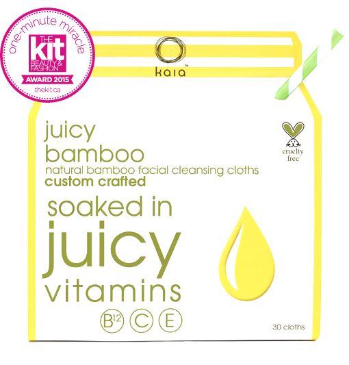 Kaia Naturals Juicy Bamboo Natural Facial Cleansing Cloths (30 cloths) - WaldronRetail www.waldronretail.com