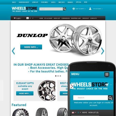CS-Cart 3 Responsive Template cs300055 is specially designed for Shop automobile Wheels and Tires. Selling Wheels and Tires brand GoodYear, Michelin, Pirelli, Continental, Dunlop, Hoosier, Yokohama, Bridgestone.