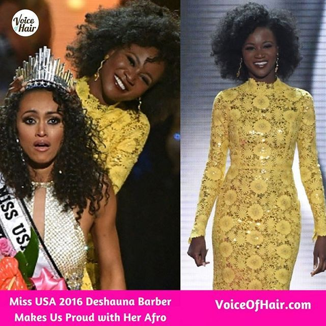 On VoiceOfHair.com| Yesterday a new Miss USA was crowned👑 Read how Miss USA 2016 @deshaunabarber made us proud with her touching tribute to her mother who passed away❤️ Get the full story (Link in bio👆🏾) #voiceofhair . . . . . . #naturalhair #naturalbeauty #naturalista #afro #fro #missusa #missusa2016 #missusa2017 #mothersday #newblogpost #bloggers #pageanthair #bloglovin #bloggerslikeme #pageant #pageantdress #protectivestyle #myhaircrush #bighairdontcare #bighair #healthyhair #realhair…