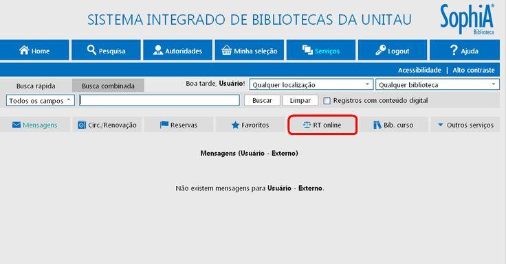 Os usuários do Sistema Integrado de Bibliotecas da UNITAU – SIBi – já podem acessar a plataforma da Revista dos Tribunais diretamente do Catálogo online da Biblioteca. Os títulos presen…