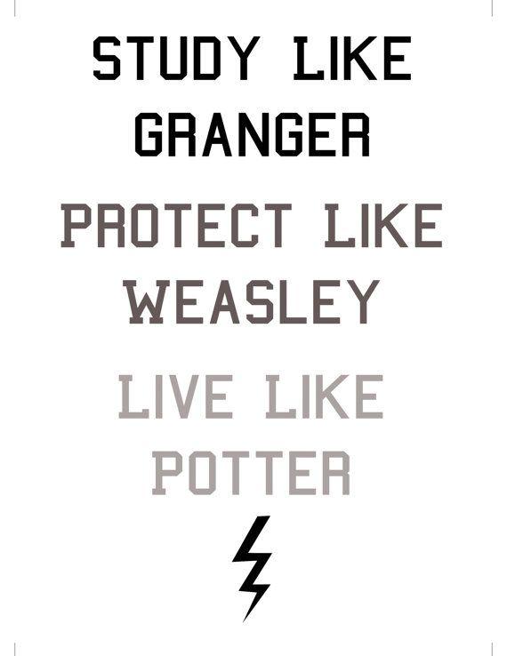 Harry Potter Digital Print. Study like por SweetestNerdyDreams