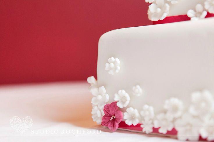 Pink and white wedding cake  #wedding #cake