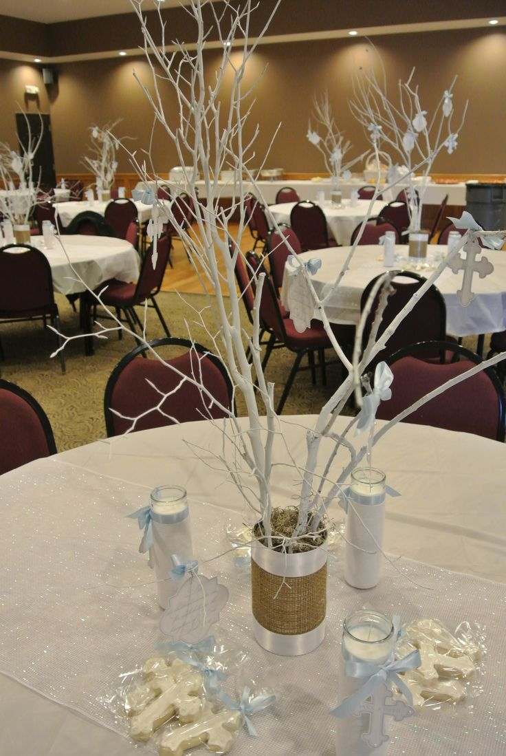 Pin By Antonia Flores On Party Baptism Centerpieces