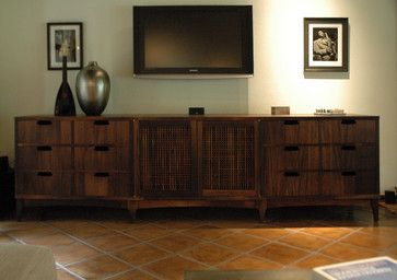 Media Cabinets - eclectic - media room - los angeles - Cliff Spencer Furniture Maker