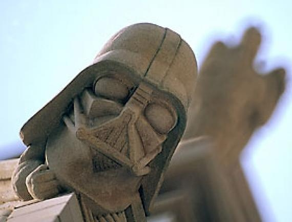 Darth Vader grotesque located on the Washington National Cathedral. #StarWars