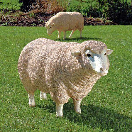 Standing Merino Lamb Statue Lamb Statue Merino Lamb Small Lamb Statue