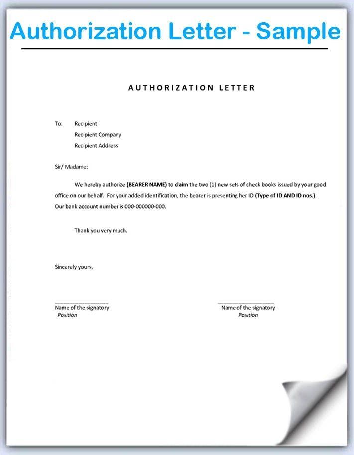 Image Result For Authorization Letter Goruntuler Ile