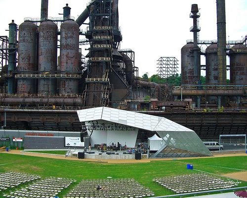 Levitt Pavilion at the Steel Stacks Complex