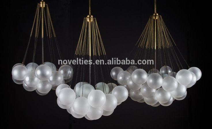 Lámpara de cristal caliente, la cadena de araña de cristal, bola de la burbuja droplight, de vidrio esmerilado blanco lámpara de araña-Lámparas Techo y Colgantes-Identificación del producto:60076353480-spanish.alibaba.com