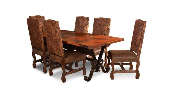 Horizon Home Copper Top Table Dining Table Copper Dining Table