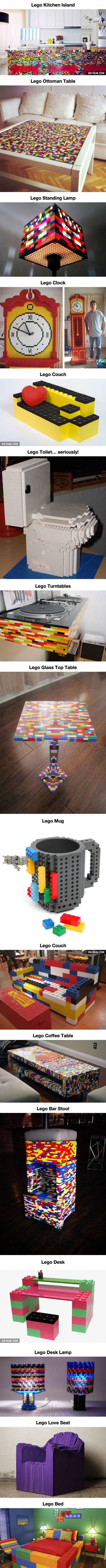 Appease Your Inner Child And Complete Your House With These Incredible Lego Furnishings