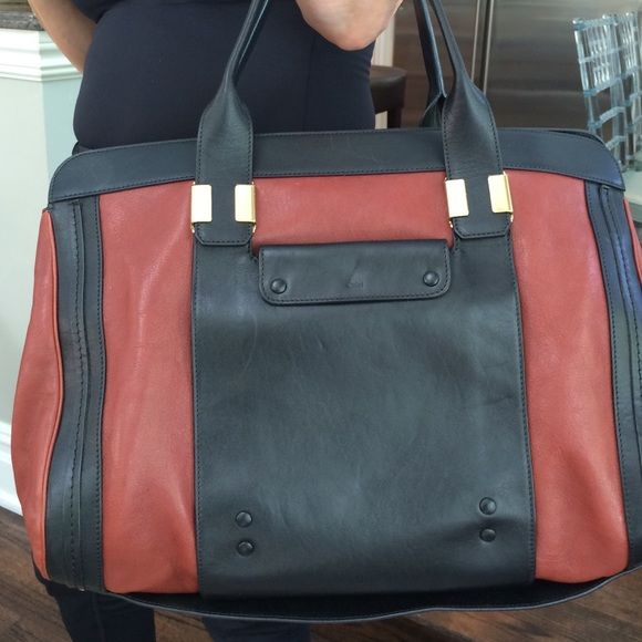 chloe purse rust & multi