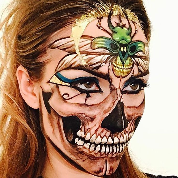 Her skull faces pack a wildly psychedelic punch, designed with countless crafts and details to bling them out – who knew the undead could look so alive! Nobody can get enough of Vanessa's billion shades of awesome – it's makeup porn! More: http://blog.furlesscosmetics.com/wigs-makeup-manager/