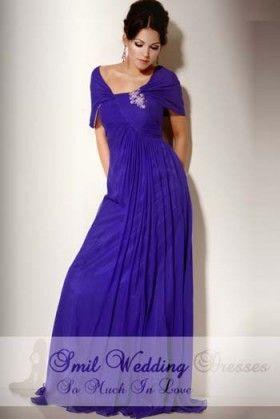formele jurken blauwe vloer lengte a-lijn v-hals hals GJ2012079